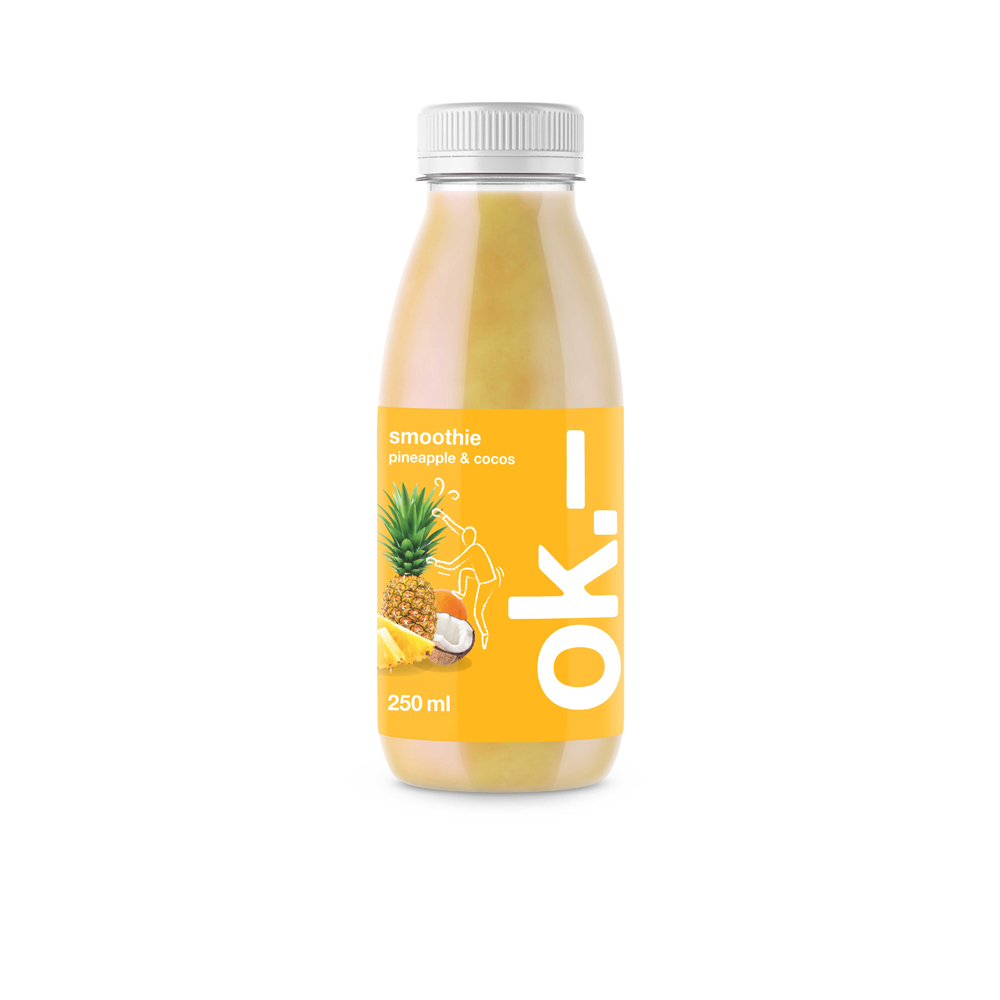 ok.– smoothie pineapple & cocos